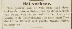 Jan Worm - Verkeer - Nieuwe Gorinchemsche Courant, 19051926